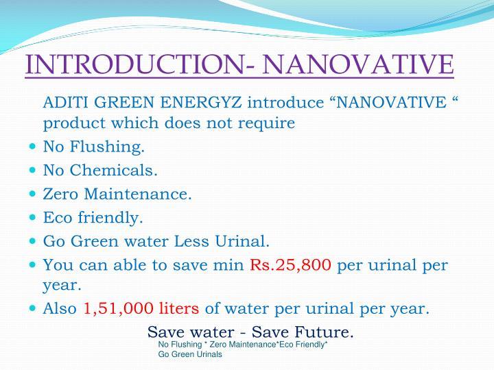 INTRODUCTION- NANOVATIVE