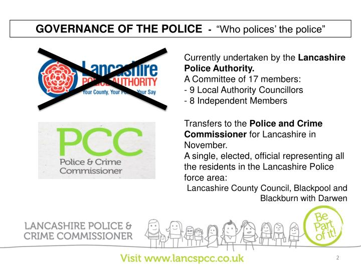 GOVERNANCE OF THE POLICE