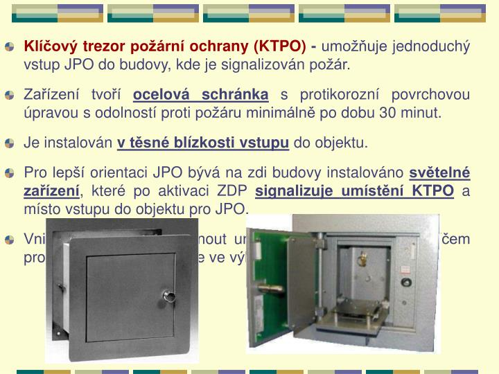 Klíčový trezor požární ochrany (KTPO)