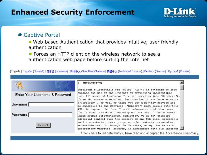 Enhanced Security Enforcement