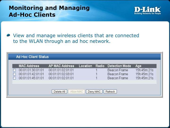 Monitoring and Managing