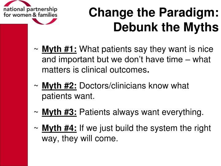 Change the Paradigm:
