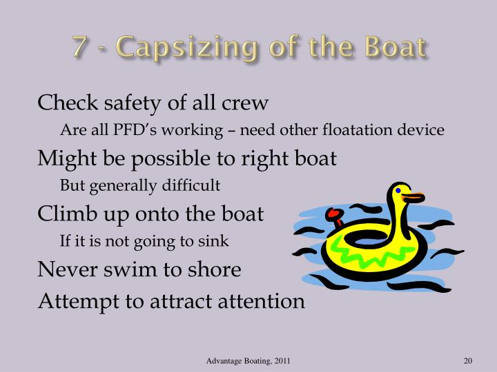 7 - Capsizing of the Boat