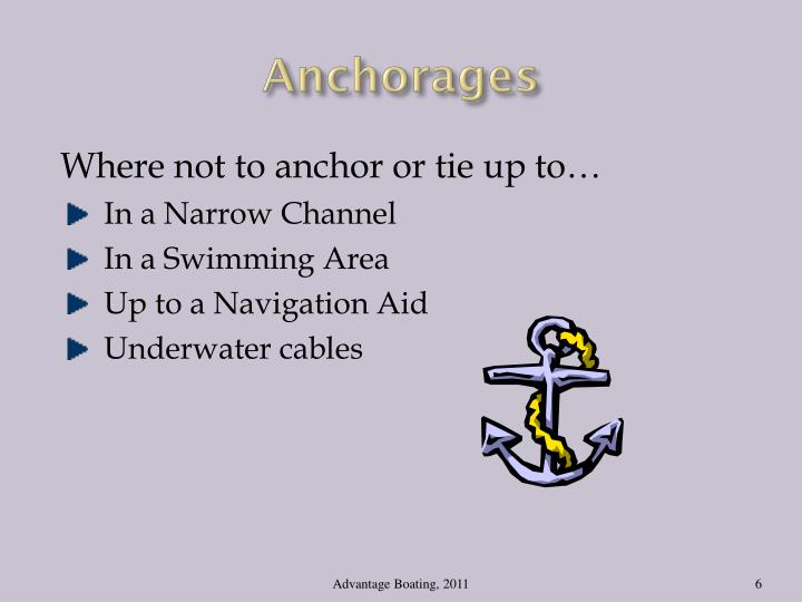 Anchorages