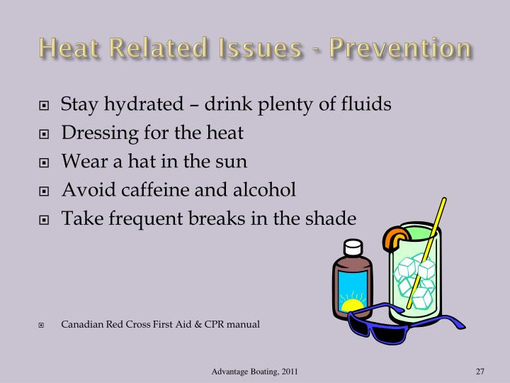 Heat Related Issues - Prevention
