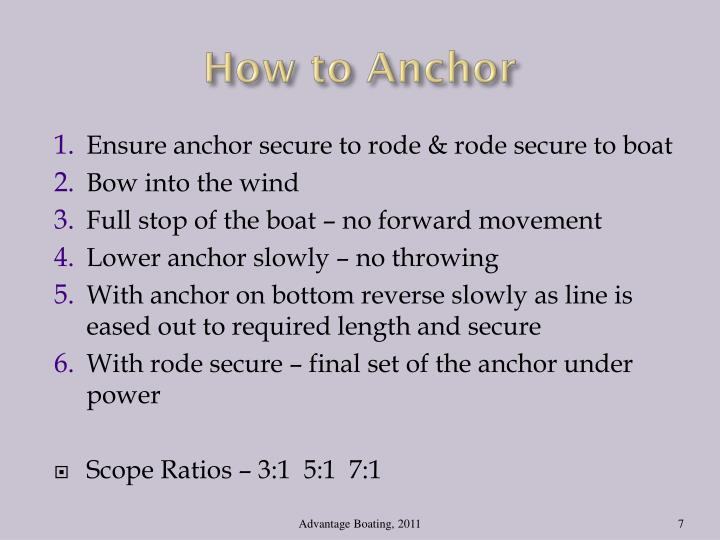 How to Anchor