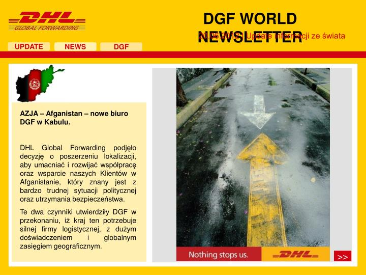 DGF WORLD NEWSLETTER