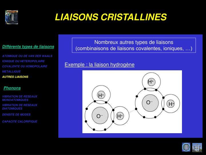 AUTRES LIAISONS