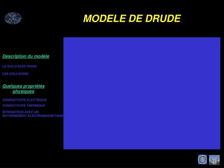 Description du modèle