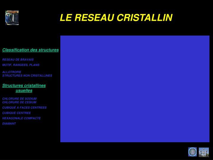 Classification des structures