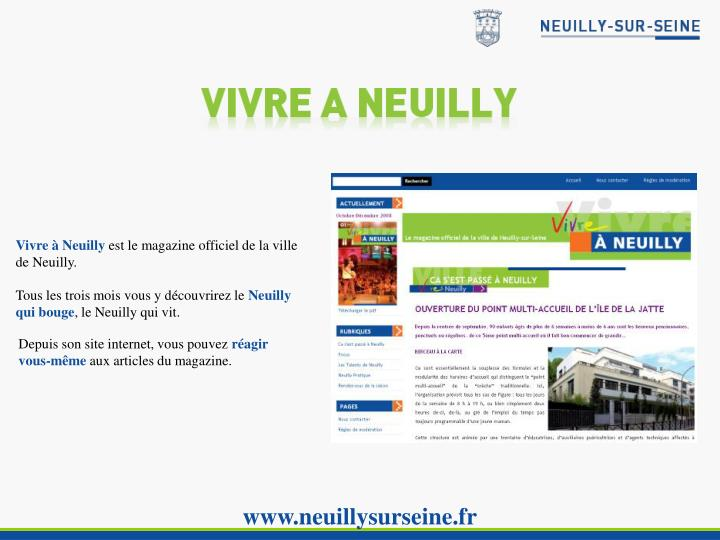 Vivre à Neuilly