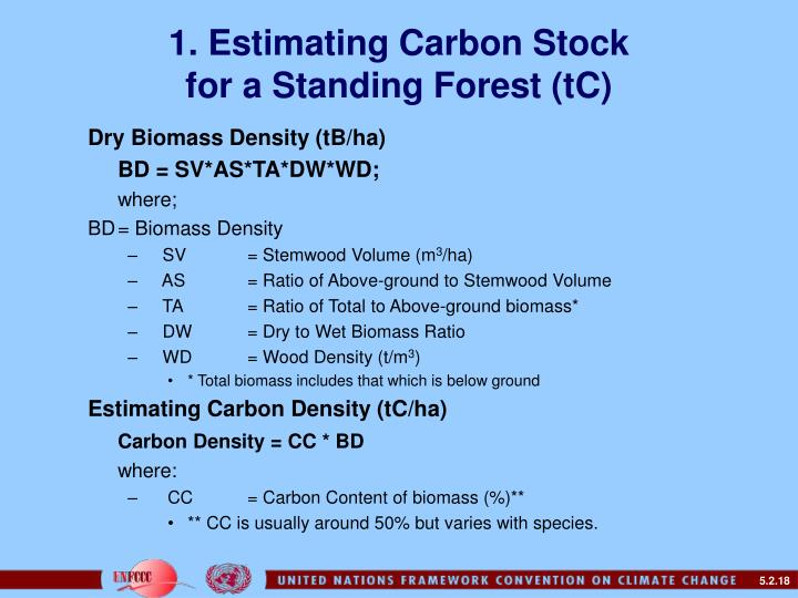 1. Estimating Carbon Stock
