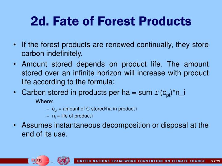 2d. Fate of Forest Products