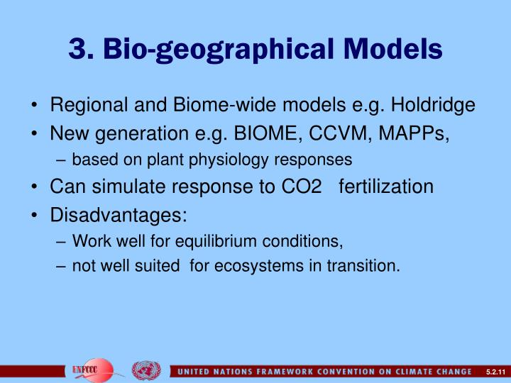 3. Bio-geographical Models