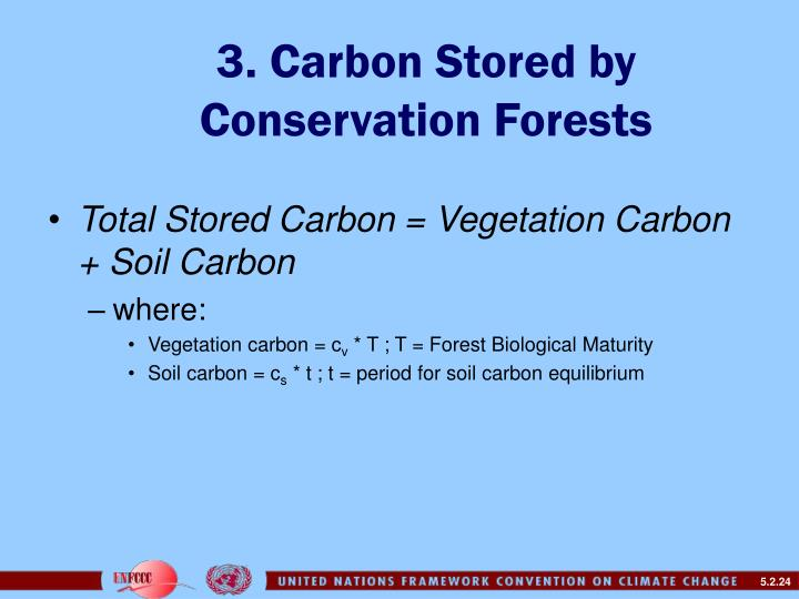 3. Carbon Stored by Conservation Forests