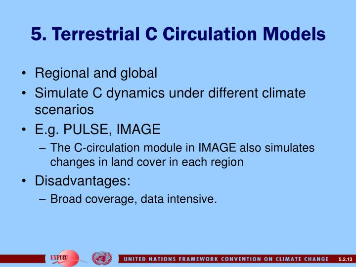 5. Terrestrial C Circulation Models