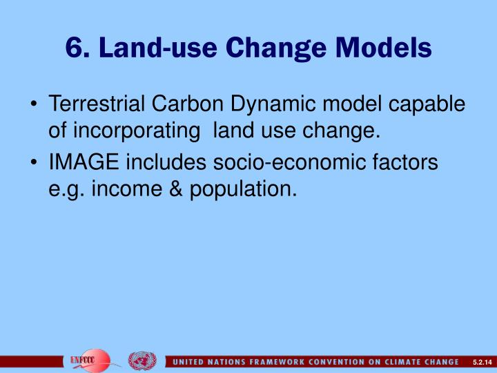 6. Land-use Change Models