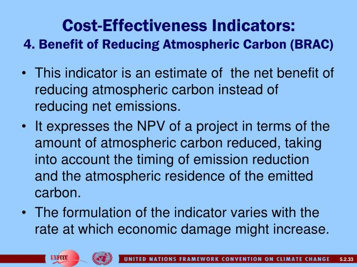 Cost-Effectiveness Indicators: