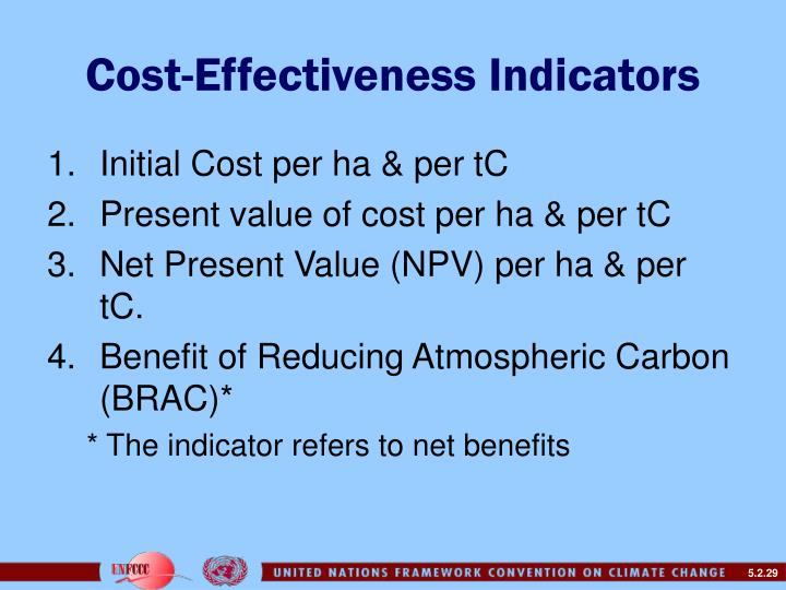 Cost-Effectiveness Indicators