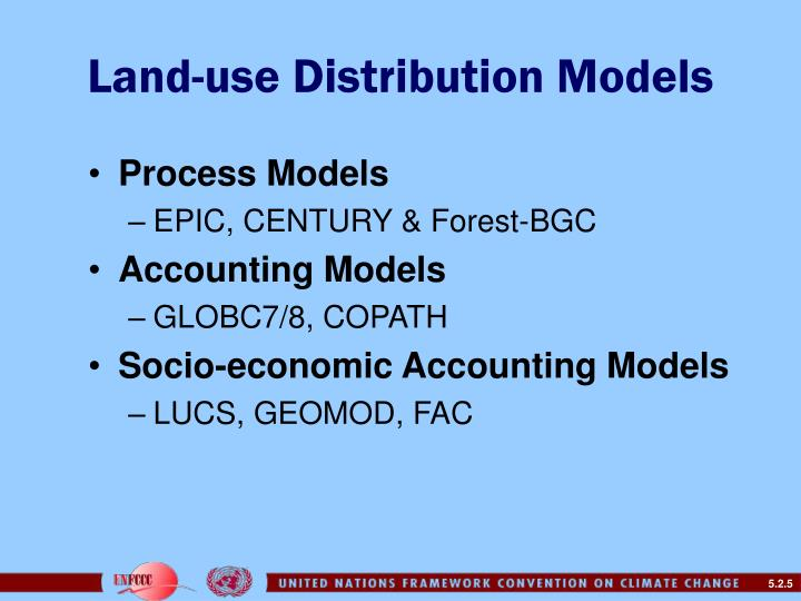 Land-use Distribution Models