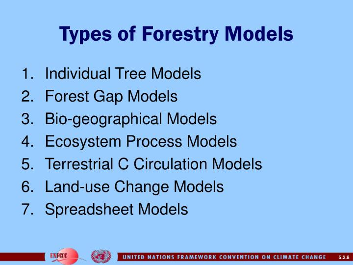 Types of Forestry Models