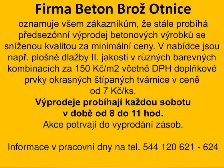 Firma Beton Brož