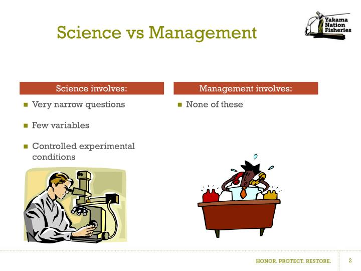Science vs management