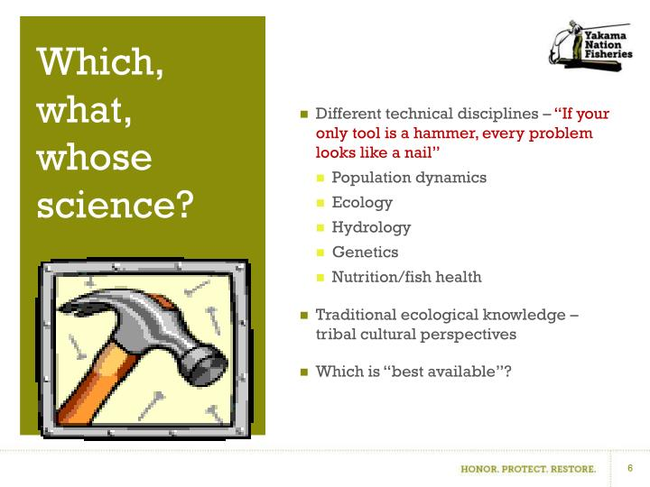 Different technical disciplines –