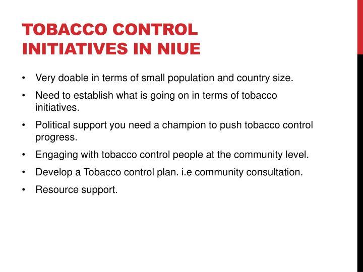 Tobacco control initiatives in Niue