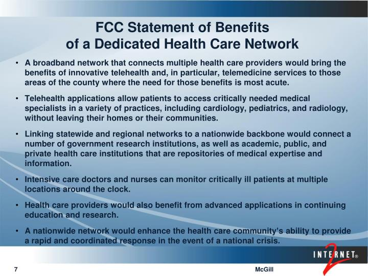 FCC Statement of Benefits