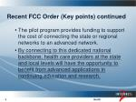 recent fcc order key points continued