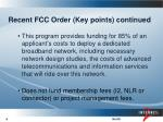 recent fcc order key points continued1