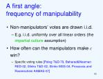 a first angle frequency of manipulability
