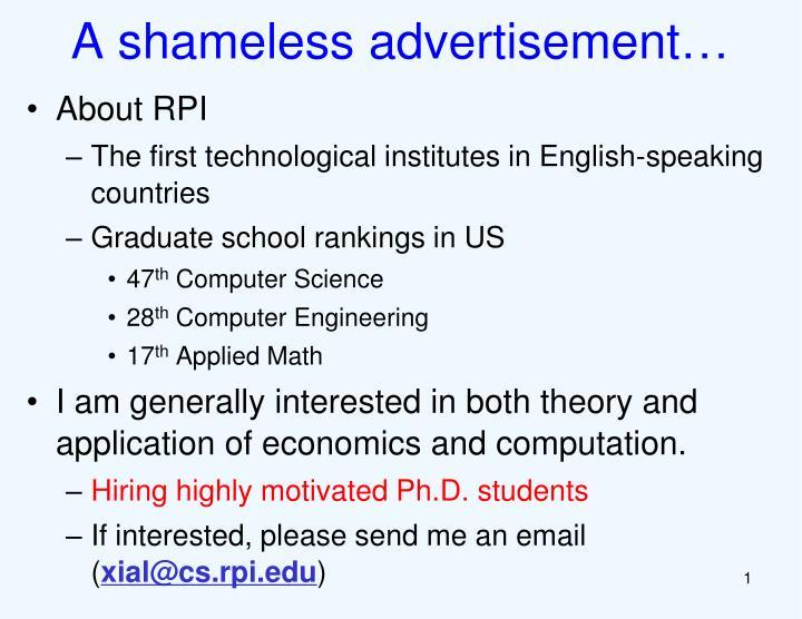 A shameless advertisement…