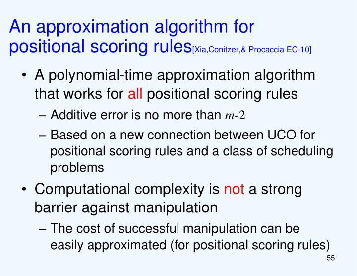 An approximation algorithm for positional scoring rules