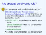 any strategy proof voting rule