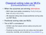 classical voting rules as mles conitzer sandholm uai 05