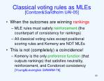 classical voting rules as mles conitzer sandholm uai 051