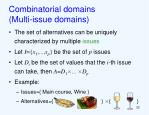 combinatorial domains multi issue domains