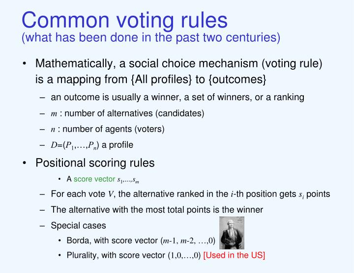 Common voting rules