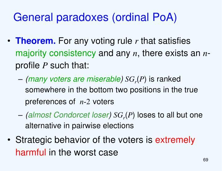 General paradoxes (ordinal