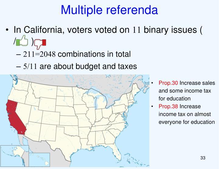 Multiple referenda