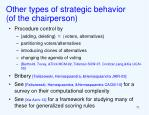 other types of strategic behavior of the chairperson