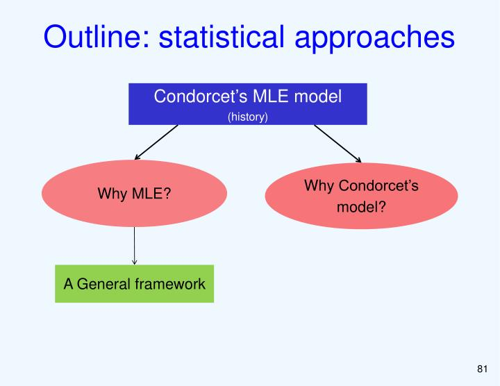 Outline: statistical approaches