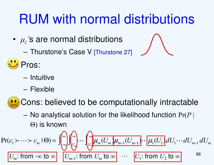 RUM with normal distributions