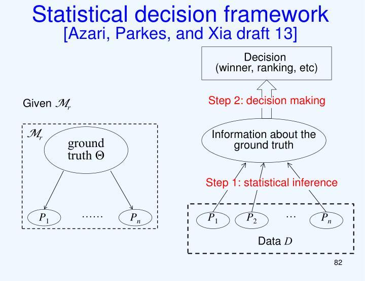 Statistical decision framework