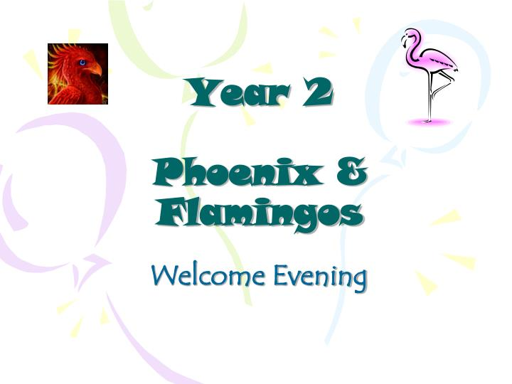 Year 2 phoenix flamingos