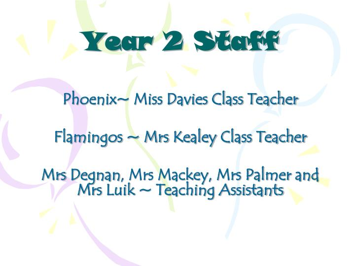 Year 2 Staff
