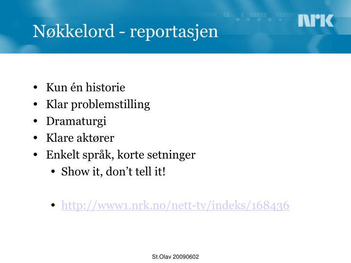 Nøkkelord - reportasjen