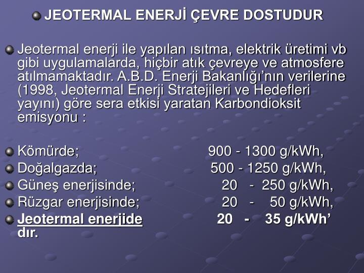 JEOTERMAL ENERJ EVRE DOSTUDUR